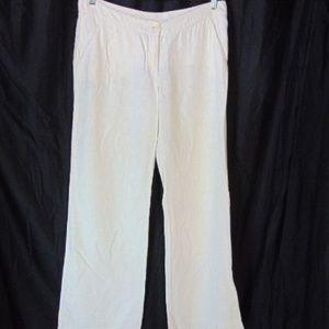 Missoni Womens White Coarse Linen Pants US 10 46 F